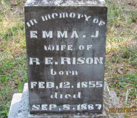 RISON, EMMA J (CLOSE UP) - Perry County, Arkansas | EMMA J (CLOSE UP) RISON - Arkansas Gravestone Photos