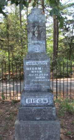 RISON, JOHN W (FULL VIEW) - Perry County, Arkansas | JOHN W (FULL VIEW) RISON - Arkansas Gravestone Photos