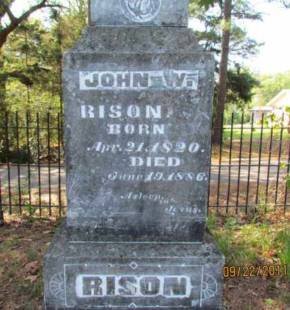 RISON, JOHN W (CLOSE UP) - Perry County, Arkansas | JOHN W (CLOSE UP) RISON - Arkansas Gravestone Photos
