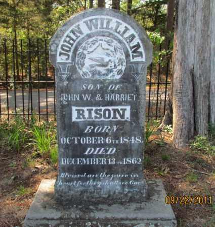 RISON JR, JOHN WILLIAM - Perry County, Arkansas | JOHN WILLIAM RISON JR - Arkansas Gravestone Photos