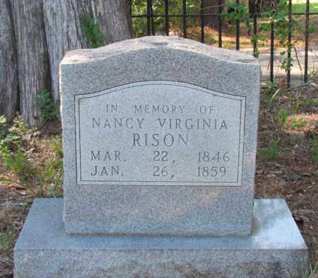 RISON, NANCY VIRGINIA - Perry County, Arkansas | NANCY VIRGINIA RISON - Arkansas Gravestone Photos