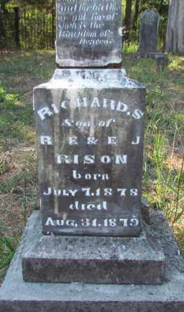 RISON, RICHARD S (CLOSE UP BOTTOM) - Perry County, Arkansas | RICHARD S (CLOSE UP BOTTOM) RISON - Arkansas Gravestone Photos