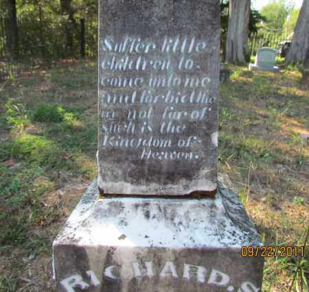 RISON, RICHARD S (CLOSE UP TOP) - Perry County, Arkansas   RICHARD S (CLOSE UP TOP) RISON - Arkansas Gravestone Photos