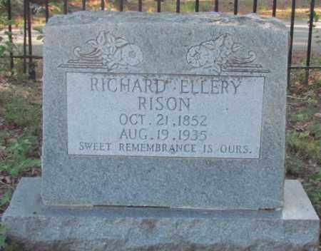 RISON, RICHARD ELLERY - Perry County, Arkansas | RICHARD ELLERY RISON - Arkansas Gravestone Photos