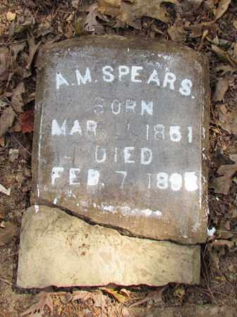 SPEARS, A M - Perry County, Arkansas   A M SPEARS - Arkansas Gravestone Photos
