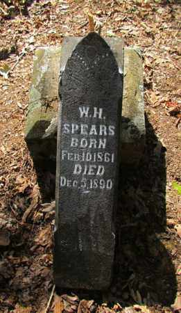 SPEARS, W H - Perry County, Arkansas | W H SPEARS - Arkansas Gravestone Photos