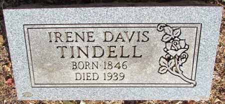 DAVIS TINDELL, IRENE - Perry County, Arkansas | IRENE DAVIS TINDELL - Arkansas Gravestone Photos