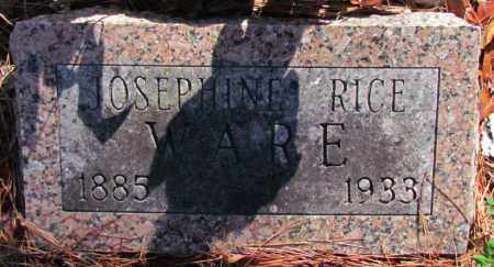 RICE WARE, JOSEPHINE - Perry County, Arkansas | JOSEPHINE RICE WARE - Arkansas Gravestone Photos