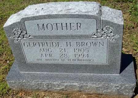 BROWN, GERTRUDE H - Phillips County, Arkansas | GERTRUDE H BROWN - Arkansas Gravestone Photos