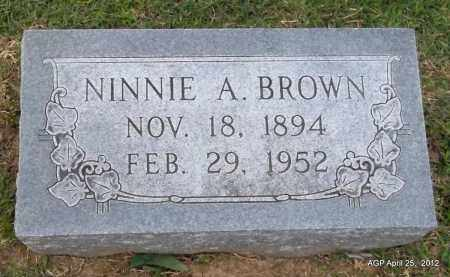 BROWN, NINNIE A - Phillips County, Arkansas | NINNIE A BROWN - Arkansas Gravestone Photos