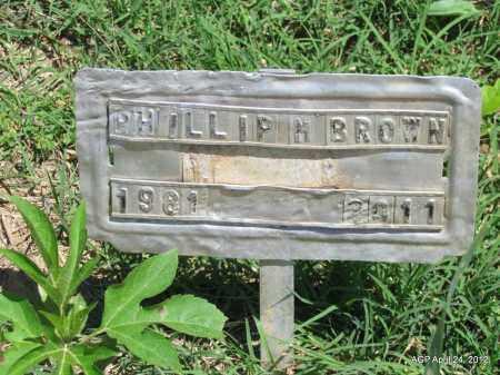 BROWN, PHILLIP M - Phillips County, Arkansas | PHILLIP M BROWN - Arkansas Gravestone Photos