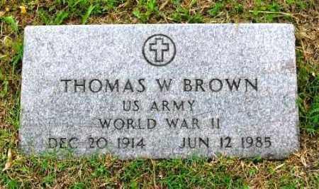 BROWN (VETERAN WWII), THOMAS W - Phillips County, Arkansas | THOMAS W BROWN (VETERAN WWII) - Arkansas Gravestone Photos