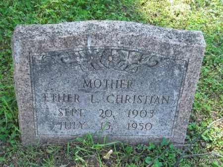 CHRISTIAN, ETHER L - Phillips County, Arkansas   ETHER L CHRISTIAN - Arkansas Gravestone Photos
