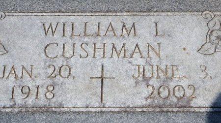 CUSHMAN, WILLIAM L - Phillips County, Arkansas   WILLIAM L CUSHMAN - Arkansas Gravestone Photos