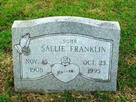 FRANKLIN, SALLIE - Phillips County, Arkansas | SALLIE FRANKLIN - Arkansas Gravestone Photos