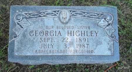 HIGHLEY, GEORGIA - Phillips County, Arkansas | GEORGIA HIGHLEY - Arkansas Gravestone Photos