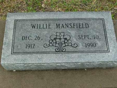 MANSFIELD, WILLIE - Phillips County, Arkansas | WILLIE MANSFIELD - Arkansas Gravestone Photos
