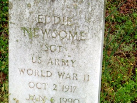 NEWSOME (VETERAN WWII), EDDIE - Phillips County, Arkansas | EDDIE NEWSOME (VETERAN WWII) - Arkansas Gravestone Photos
