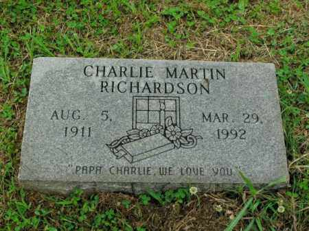 RICHARDSON, CHARLIE MARTIN - Phillips County, Arkansas   CHARLIE MARTIN RICHARDSON - Arkansas Gravestone Photos