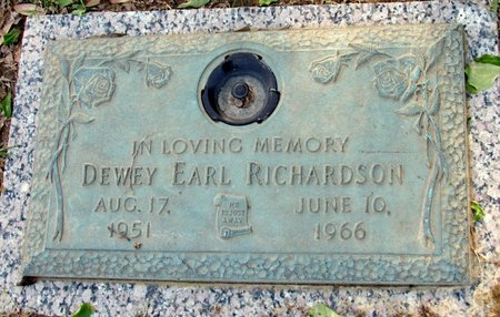 RICHARDSON, DEWEY EARL - Phillips County, Arkansas | DEWEY EARL RICHARDSON - Arkansas Gravestone Photos