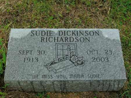 DICKINSON RICHARDSON, SUDIE - Phillips County, Arkansas   SUDIE DICKINSON RICHARDSON - Arkansas Gravestone Photos