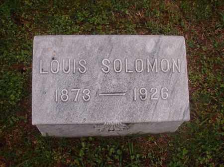 SOLOMON, LOUIS - Phillips County, Arkansas | LOUIS SOLOMON - Arkansas Gravestone Photos