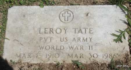 TATE (VETERAN WWI), LEROY - Phillips County, Arkansas | LEROY TATE (VETERAN WWI) - Arkansas Gravestone Photos