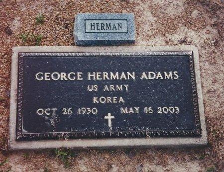 ADAMS (VETERAN KOR), GEORGE HERMAN - Pike County, Arkansas | GEORGE HERMAN ADAMS (VETERAN KOR) - Arkansas Gravestone Photos