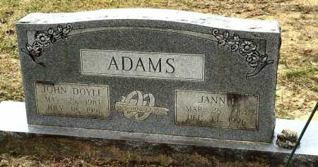 ADAMS, JANNIE - Pike County, Arkansas   JANNIE ADAMS - Arkansas Gravestone Photos