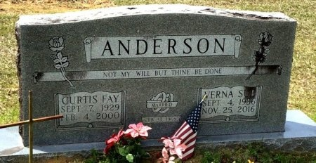 ANDERSON, CURTIS FAY - Pike County, Arkansas   CURTIS FAY ANDERSON - Arkansas Gravestone Photos
