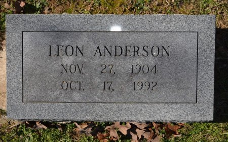 ANDERSON, LEON - Pike County, Arkansas   LEON ANDERSON - Arkansas Gravestone Photos