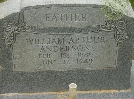 ANDERSON, WILLIAM ARTHUR - Pike County, Arkansas | WILLIAM ARTHUR ANDERSON - Arkansas Gravestone Photos