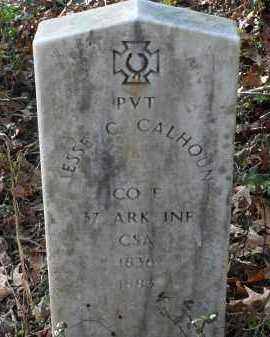 CALHOUN (VETERAN CSA), JESSE C - Pike County, Arkansas | JESSE C CALHOUN (VETERAN CSA) - Arkansas Gravestone Photos