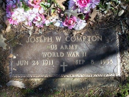 COMPTON (VETERAN WWII), JOSEPH W - Pike County, Arkansas | JOSEPH W COMPTON (VETERAN WWII) - Arkansas Gravestone Photos