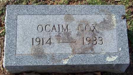 COX, OCAIM - Pike County, Arkansas | OCAIM COX - Arkansas Gravestone Photos