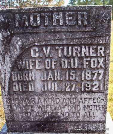 FOX, C V - Pike County, Arkansas | C V FOX - Arkansas Gravestone Photos