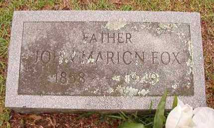 FOX, JOHN MARION - Pike County, Arkansas | JOHN MARION FOX - Arkansas Gravestone Photos