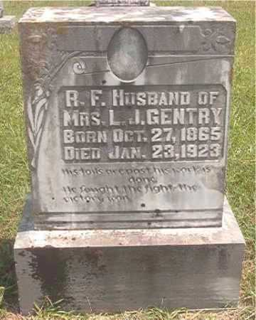 GENTRY, R F - Pike County, Arkansas   R F GENTRY - Arkansas Gravestone Photos