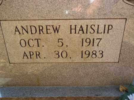 HAISLIP, ANDREW - Pike County, Arkansas | ANDREW HAISLIP - Arkansas Gravestone Photos