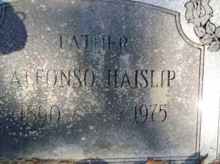 HAISLIP, ALFONSO - Pike County, Arkansas   ALFONSO HAISLIP - Arkansas Gravestone Photos