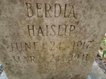 HAISLIP, BERDIA - Pike County, Arkansas | BERDIA HAISLIP - Arkansas Gravestone Photos