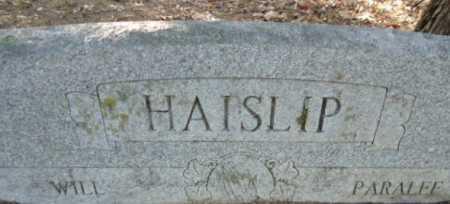 HAISLIP, WILL - Pike County, Arkansas | WILL HAISLIP - Arkansas Gravestone Photos