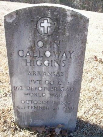 HIGGINS (VETERAN WWII), JOHN CALLOWAY   - Pike County, Arkansas | JOHN CALLOWAY   HIGGINS (VETERAN WWII) - Arkansas Gravestone Photos