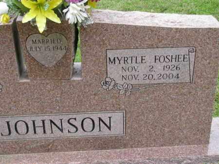 FOSHEE JOHNSON, MYRTLE - Pike County, Arkansas | MYRTLE FOSHEE JOHNSON - Arkansas Gravestone Photos