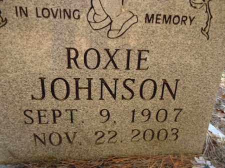 JOHNSON, ROXIE (CLOSEUP) - Pike County, Arkansas | ROXIE (CLOSEUP) JOHNSON - Arkansas Gravestone Photos