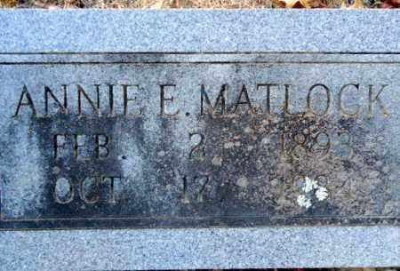 MATLOCK, ANNIE E - Pike County, Arkansas   ANNIE E MATLOCK - Arkansas Gravestone Photos