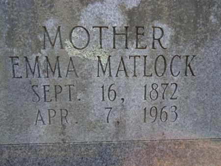 MATLOCK, EMMA - Pike County, Arkansas | EMMA MATLOCK - Arkansas Gravestone Photos