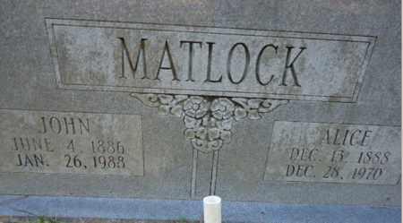 MATLOCK, JOHN - Pike County, Arkansas | JOHN MATLOCK - Arkansas Gravestone Photos
