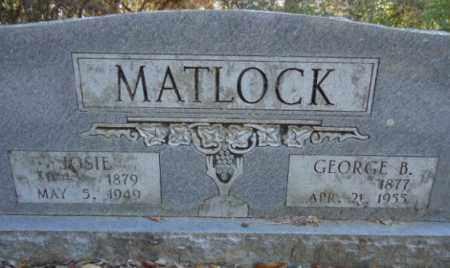 MATLOCK, JOSIE - Pike County, Arkansas | JOSIE MATLOCK - Arkansas Gravestone Photos