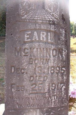 MCKINNON, EARL - Pike County, Arkansas | EARL MCKINNON - Arkansas Gravestone Photos